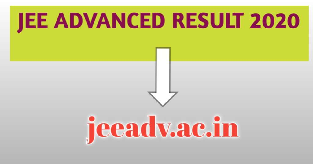 JEE Advanced 2020 Result Declared