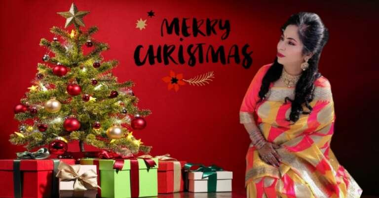Christmas Tree Ke Sath Home Christmas Celebration